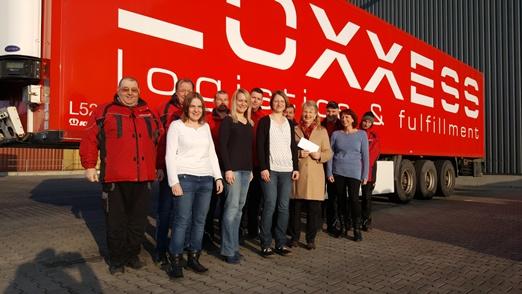 Spendenübergabe bei der Firma LOXXESS