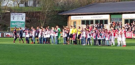 Einlaufen 2018 beim Spiel TSV Buchbach gegen FC Bayern II