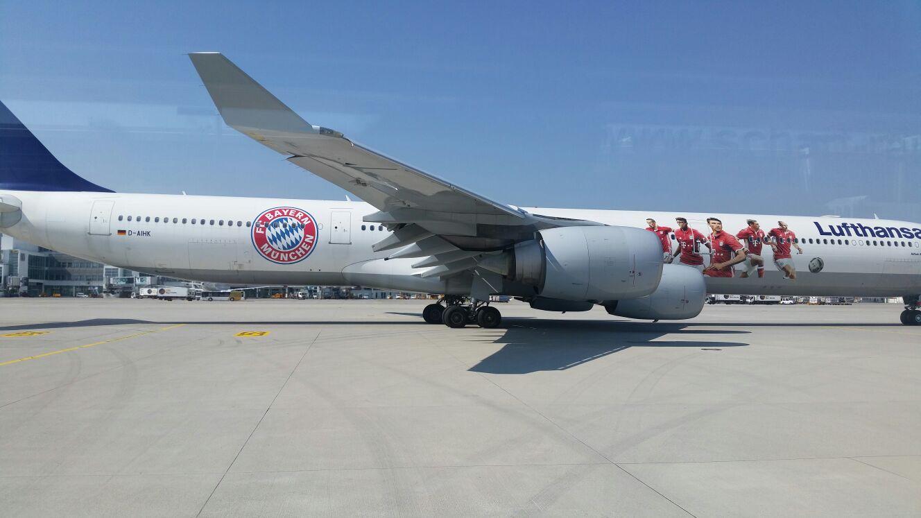 A340-600_Mainz_FCBayern-Flieger