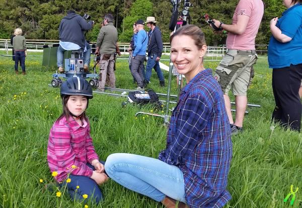 Lea mit ihrer Filmmutter Daniela Jurgens