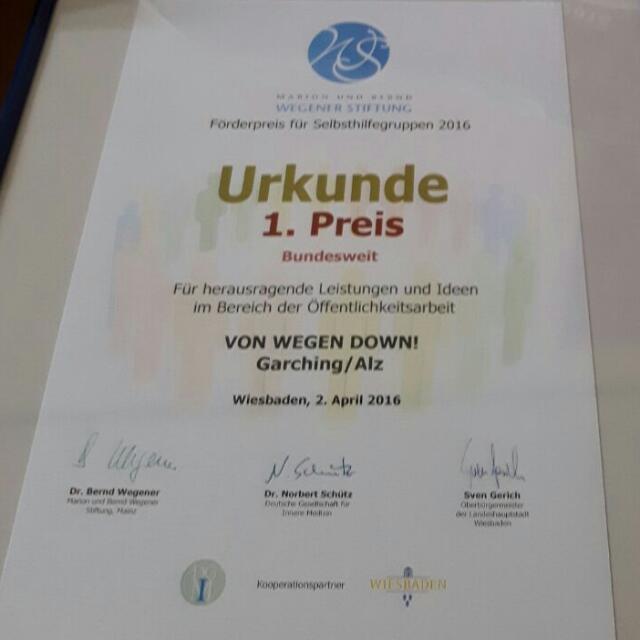 1.Preis Wegener-Stiftung 2016